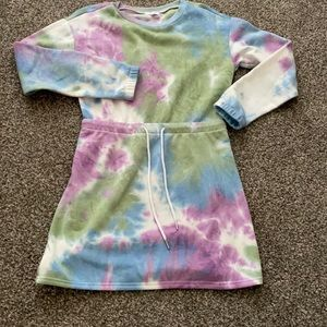 🌼🌸🌺Adorable tie dye sweatshirt dress SizeM